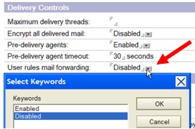 disable mail forwarding