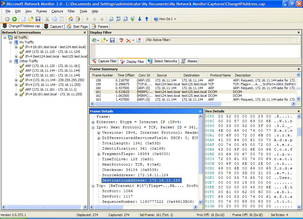 Troubleshooting remote scripting using Network Monitor 3 0