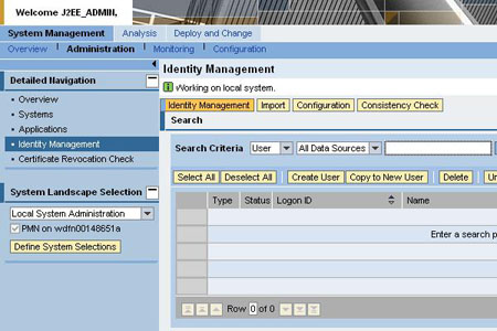 User management with SAP NetWeaver Administrator