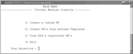Scripting Creation of Virtual Machines in Perl Scripts