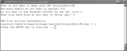 Scripting creation of virtual machines in perl scripts if you select the second option create vms from defined templates the values are set statically in that section code listing 49 shows an example where maxwellsz