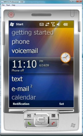 The new Windows Mobile 6.5 interface
