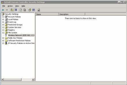 Figure A: The Group Policy Object Editor allows you to edit wireless security settings.
