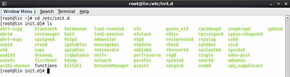 Linux service scripts.