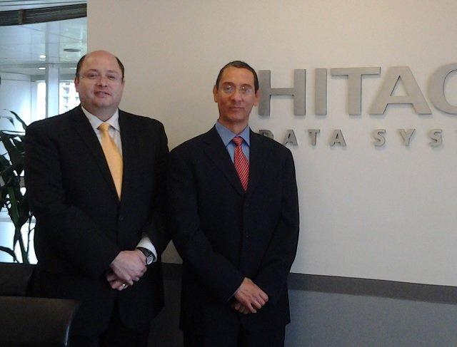 Luis Godínez y José Luis Orozco de Hitachi Data Systems