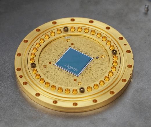 Der Quantenprozessor Q19 von Rigetti Computing mit 19 Qubits.