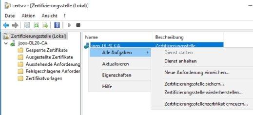 Active-Directory-Zertifikatsdienste richtig einrichten