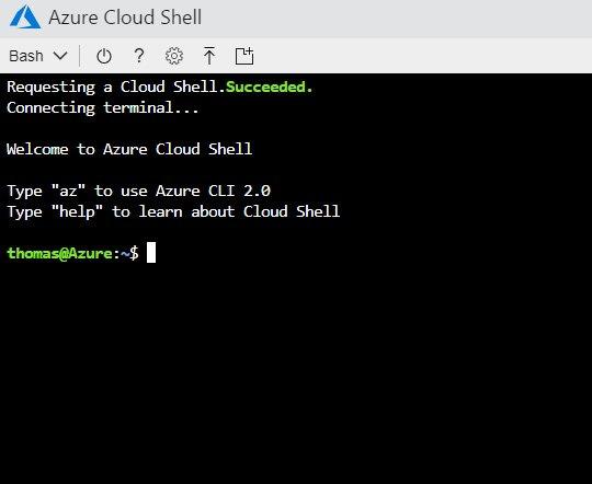 Abbildung 2: In der Azure Cloud Shell kann wahlweise auch mit der Linux Bash gearbeitet werden.