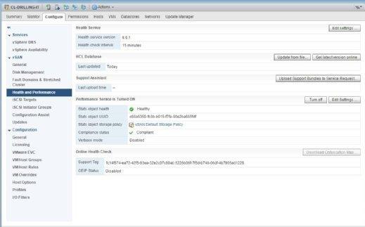 Ebenfalls ein Feature aktueller vSAN-Versionen ist das Aktivieren von Performance-Checks.