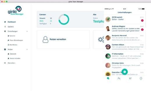 Der Business Messenger steht derzeit für iOS und Android zur Verfügung. Administratoren können die Lösung unter Windows oder macOS verwalten.