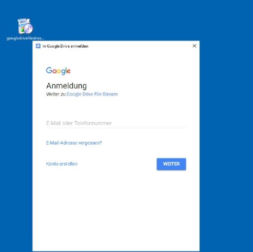 Nach der Anmeldung an Google Drive File Stream können Anwender die Lösung sofort nutzen.