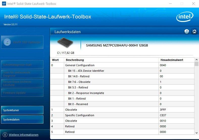 SSD mit der Intel SSD-Toolbox überwachen.