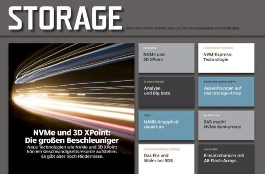 Auf mehr als 20 Seiten erläutern wir Ihnen alles Wissenswerte über NVMe und 3D-XPoint