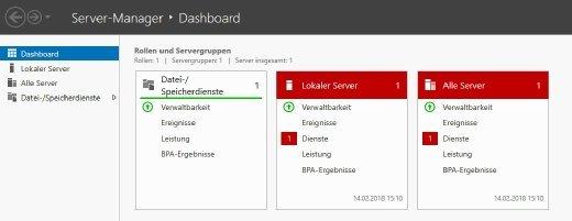 Der Best Practices Analyzer ist direkt im Server-Manager von Windows Server 2016 integriert.