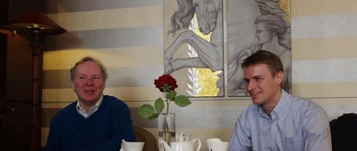 A gauche, Monty Widenius, à droite, Patrik Sallner, CEO de SkySQL