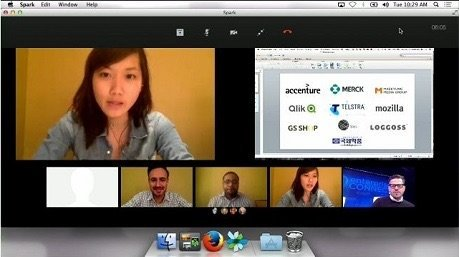 une réunion vidéo Spark utilisant WebRTC dans Firefox