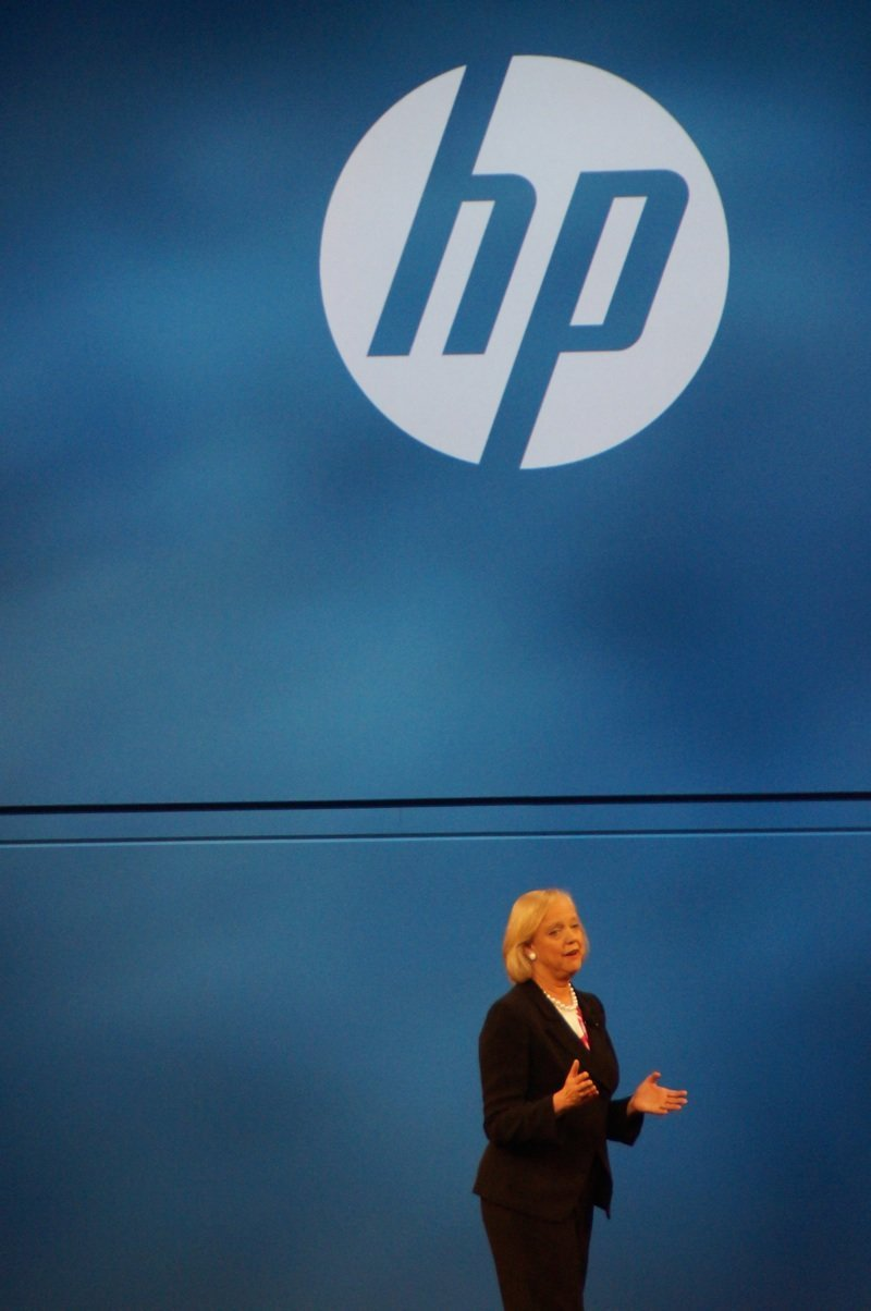 Meg Whitman lors de son Keynote