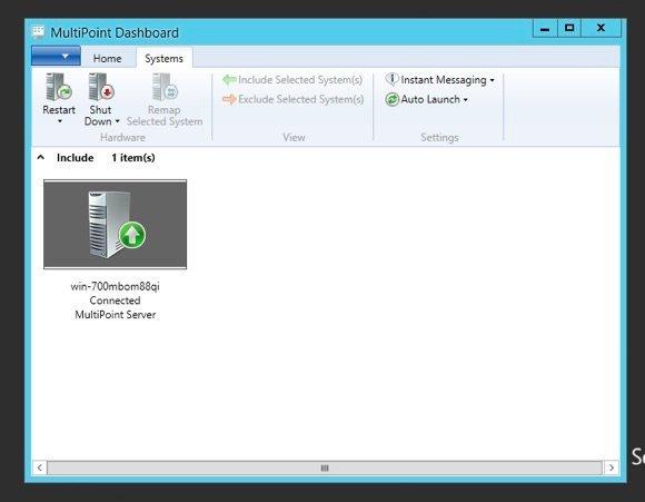 Le MultiPoint Dashboard permet de superviser les services Multipoint