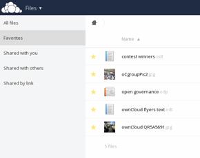 L'interface d'Owncloud
