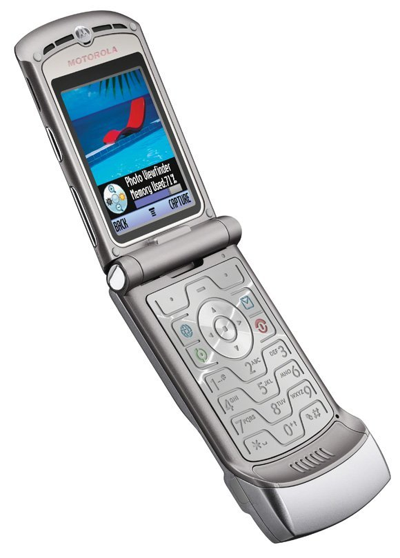 first motorola phones. motorazr v3 , 2003 first motorola phones