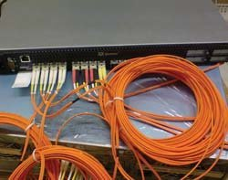 Un commutateur Fibre Channel