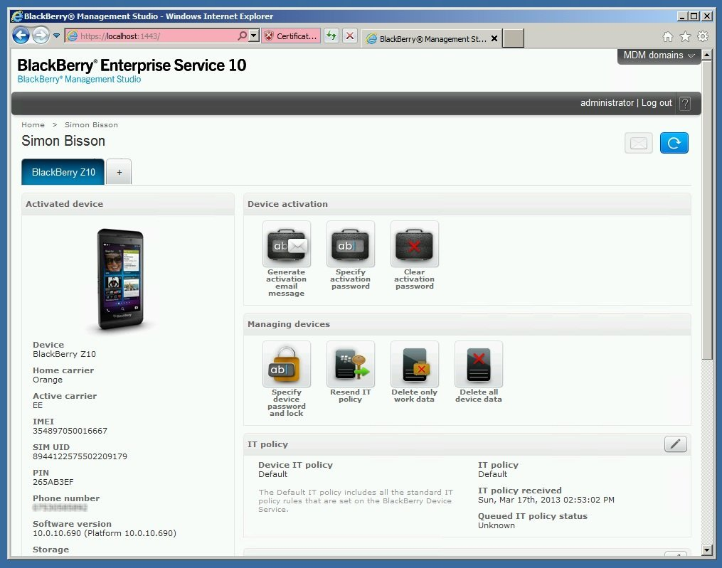 Getting started with BlackBerry Enterprise Service 10