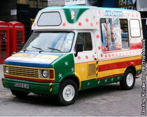 colourful ice cream van