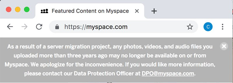 MySpace data loss: Botched server migration prompts user concerns