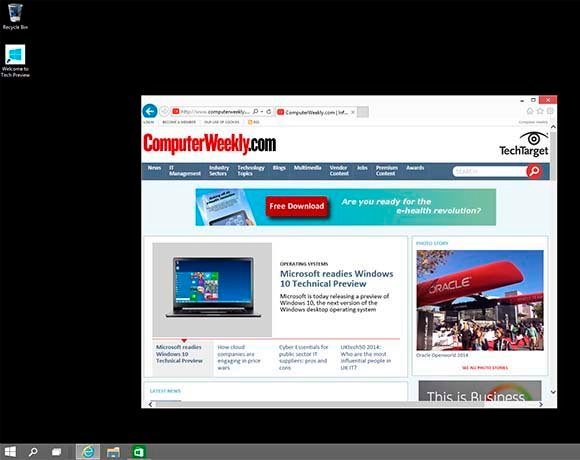 Windows 10 Technical Preview: Internet Explorer 11 and user