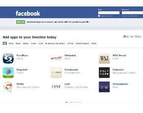 Facebook add apps to Timeline