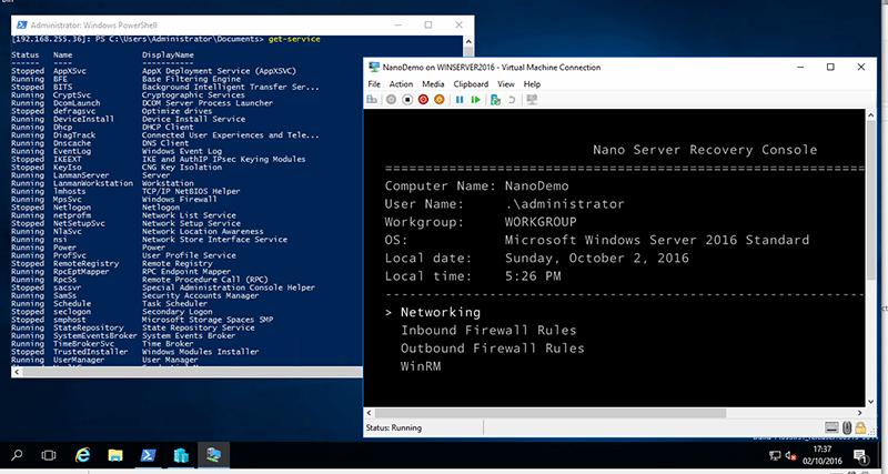 Windows Server 2016: Nano Server, a new edition of