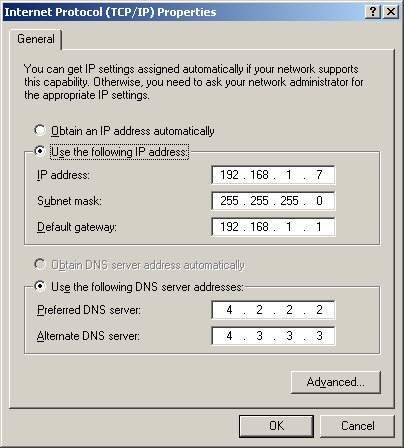 Changing the IP address of your network interface card in Windows ...