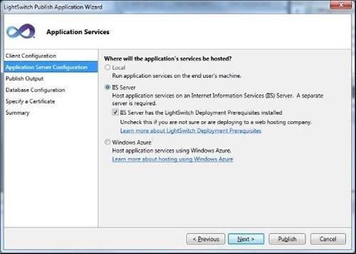 Lightswitch publish wizard - Review of Visual Studio Lightswitch