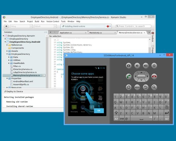 Xamarin enables mobile development for iOS and Android