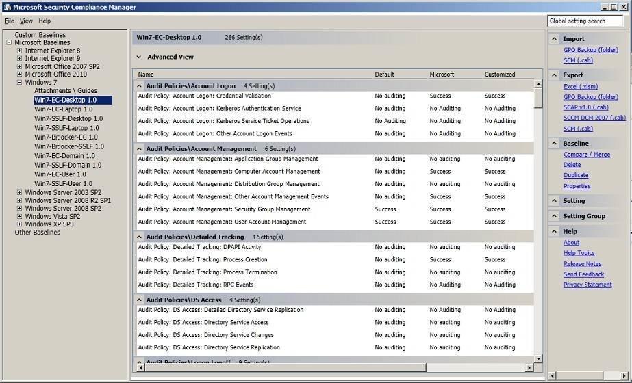 Microsoft Security Compliance Manager Enhances Desktop