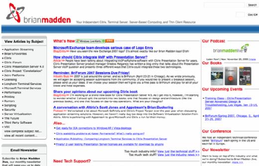 BrianMadden.com in 2005