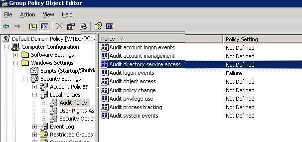 Auditing AD administrators with Windows 2008 R2's Event Viewer