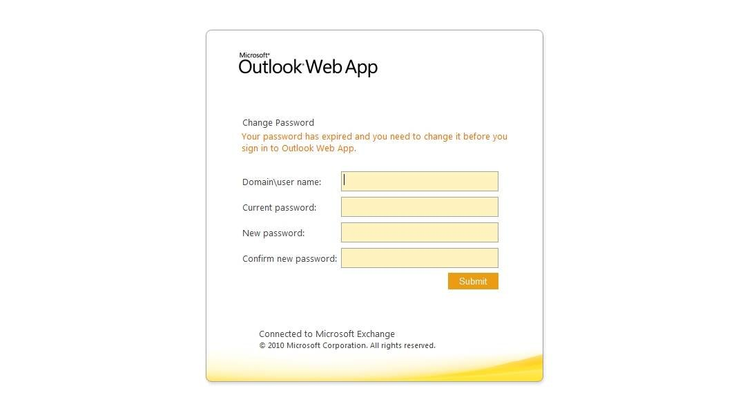 Users can reset OWA passwords.