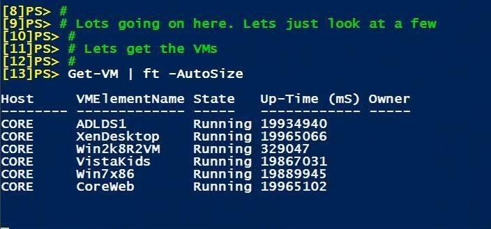 Using PowerShell to manage Microsoft Hyper-V