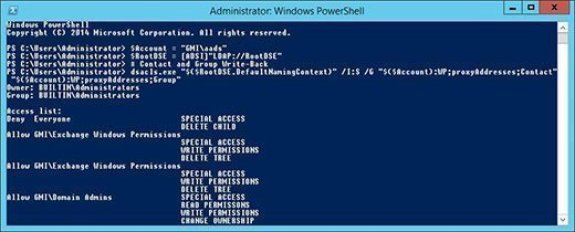 PowerShell grants Azure AD Sync write-back permissions