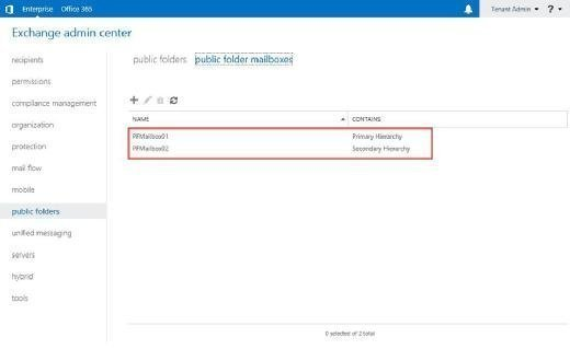 Public Folder configuration