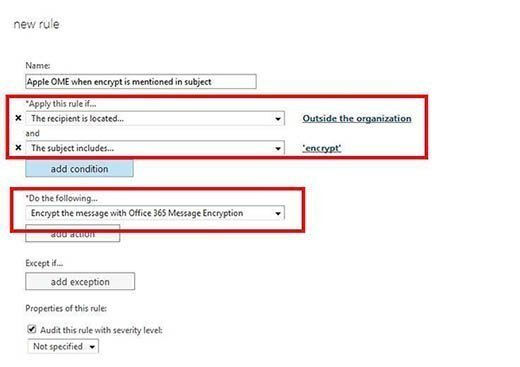 Set up Office 365 message encryption