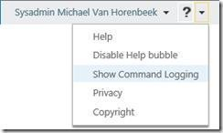 Command Logging feature
