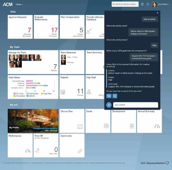 Inside SAP CoPilot for SuccessFactors, a digital assistant for HR