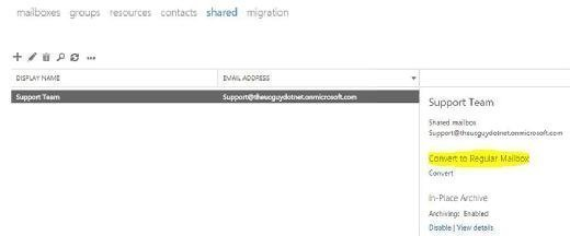 Access to shared Office 365 mailbox