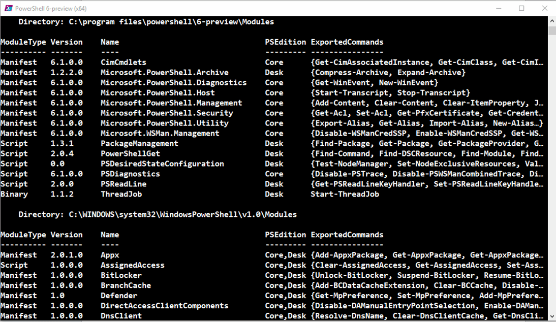 Package Management Module In Powershell Version