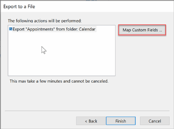 How to export an Outlook calendar and contacts