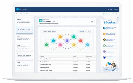Salesforce Blockchain UI
