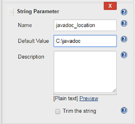 Jenkins parameterized build example with String and Boolean
