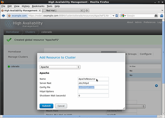 Select the resource type labeled Apache
